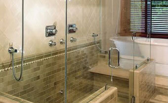 Single Slide Bath Glass Door