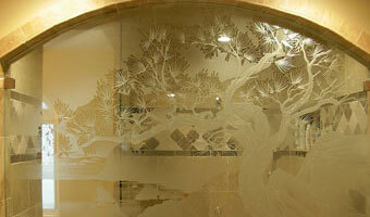 Beveled Glass Shower Door