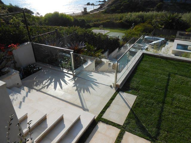 Backyard Glass Railing