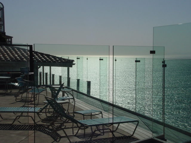 Clear Glass Deck Railing