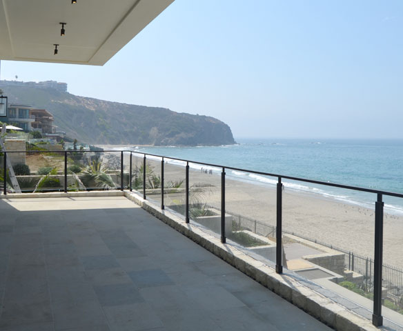 San Clemente Deck Glass Railing