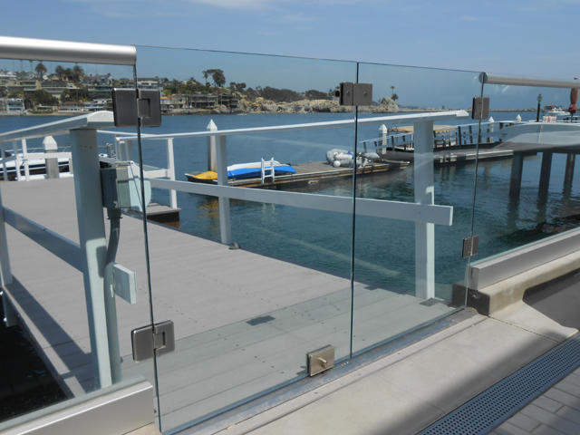 Irvine Deck Glass Railing