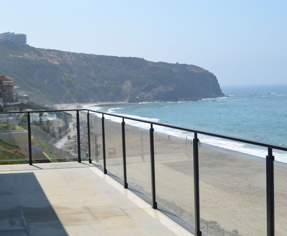 Dana Point Deck Glass Railing