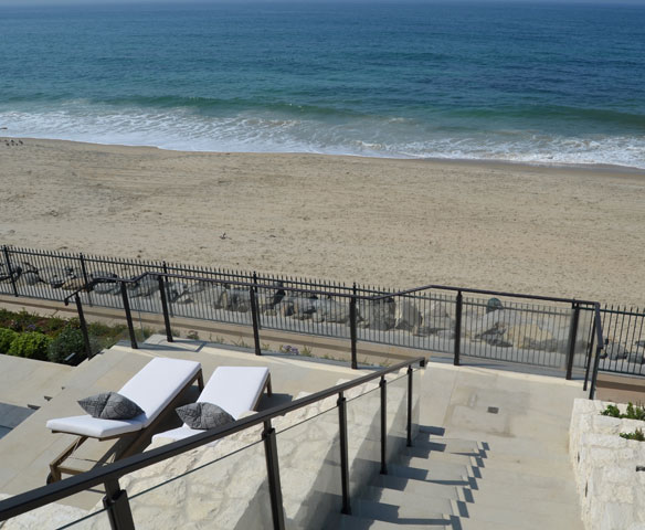 Monarch Beach Stair Glass Railing
