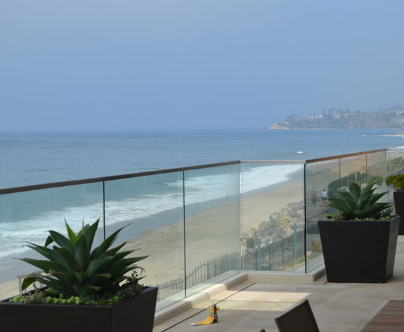 Framed Glass Deck Railing System
