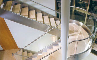 Business Stair Glass Handrails
