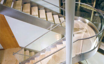 Residential Stair Glass Spindles