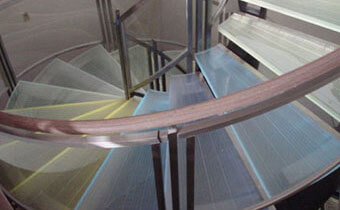 Glass Stairs Handrail