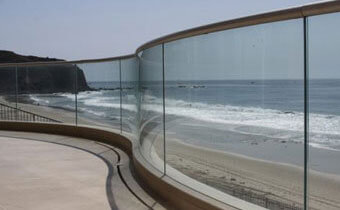 Commercial Privacy Glass Fence