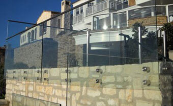 Residential Security Glass Railing
