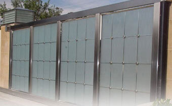 Home Security Glass Gate