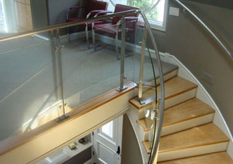 Commercial Staircase Glass Railing
