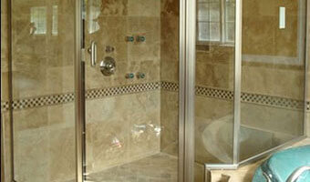 Steel Frame Bath Door