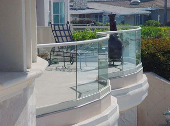 glass railing fencing orange county ca interior exterior